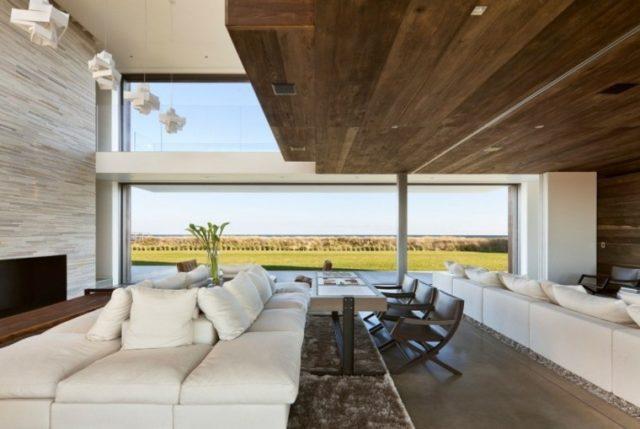 ideas de techos de madera para la casa cubierta madera sala