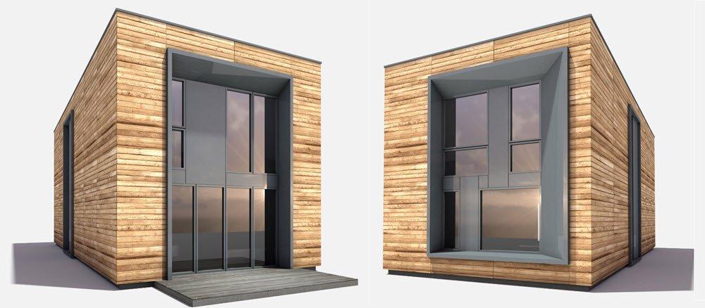 diseno de casa prefabricada de tres dormitorios