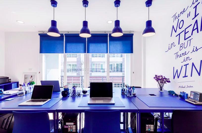colores ideales para pintar una oficina