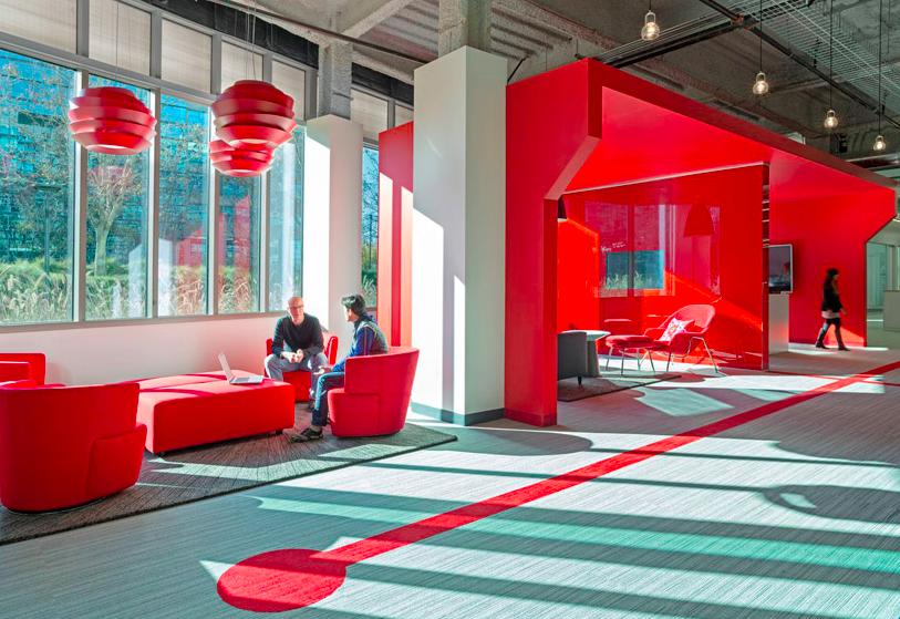 colores ideales para pintar tu oficina rojo