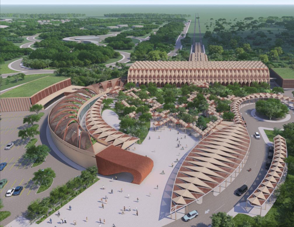 *Render del anteproyecto de la estación Chichén Itzá