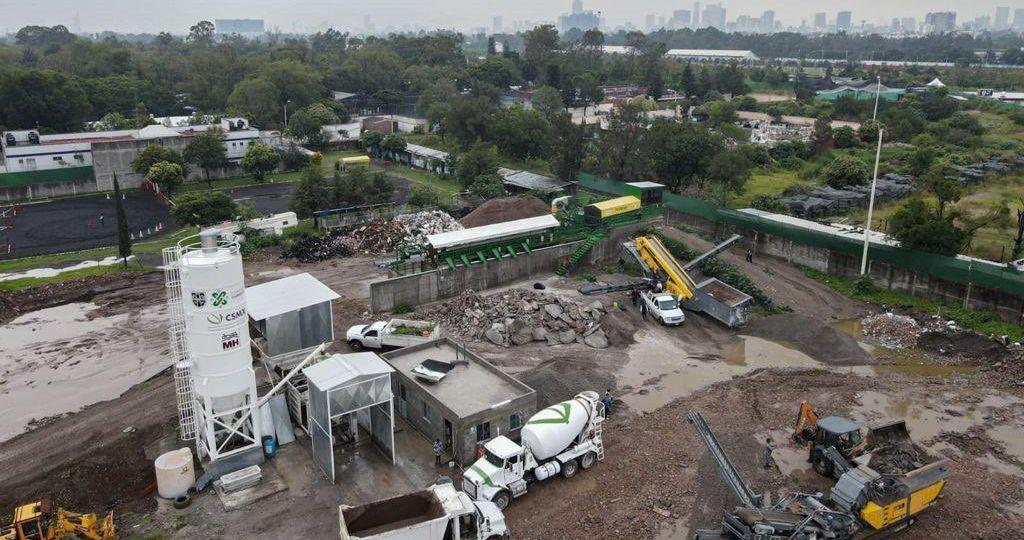 cuáles son las plantas de reciclaje de residuos de construcción en CDMX